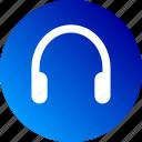 audio, gradient, headphone, headset, listen, music, phones