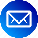 envelope, gradient, letter, mail, mailing icon