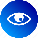 detail, eye, gradient, look, see, view, watch icon