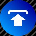 arrow, gradient, post, send, up, upload icon
