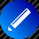 edit, editable, editing, gradient, pen, pencil icon