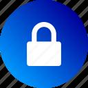 blocked, closed, gradient, lock, locked, private, safe icon