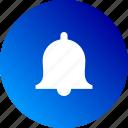 alarm, alert, bell, gradient, notification, ring icon