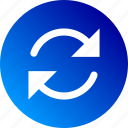 gradient, loop, refresh, reload, revolve, rotation, spin icon