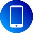 cell phone, cellphone, gradient, mobile, phone, smartphone icon