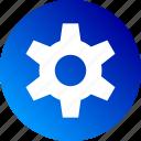 cog, configuration, gradient, options, settings, setup icon