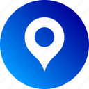 gradient, location, map, marker, pin, place icon