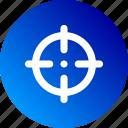 crosshair, gradient, shoot, shooting, shot, sniper, target icon
