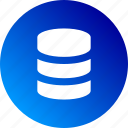 backup, data, database, gradient, save, storage icon