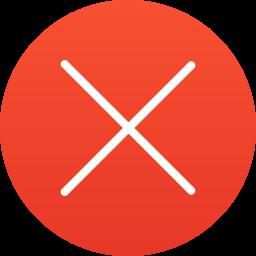 cancel, delete, error, exit, remove icon