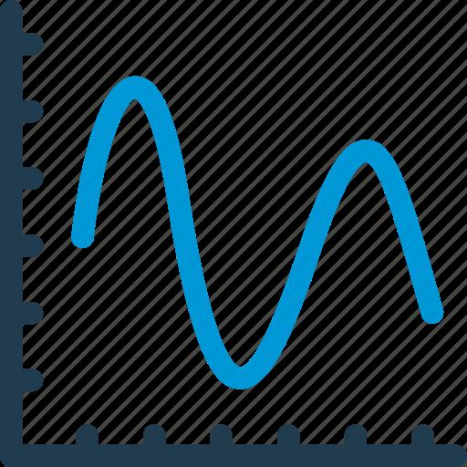 chart, curve, data, diagram, graph, infographic, statistics icon