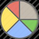 analytics, charts, circle, finance, graph, pie, statistics
