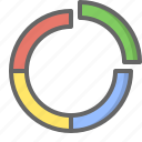 analytics, charts, circle, doughnut, finance, graph, statistics