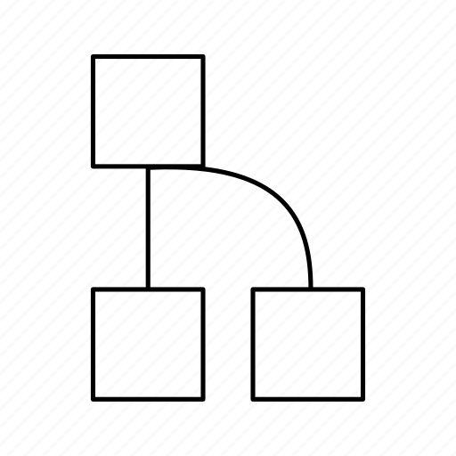 chart, diagrams, graph, hierarchy, square icon