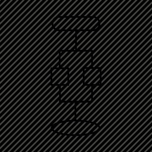 chart, diagrams, end, graph, start icon