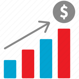 business, chart, dollar, financial, graph icon