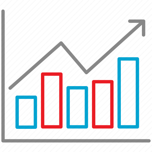 analytics, business, chart, finance, graph, mobile icon