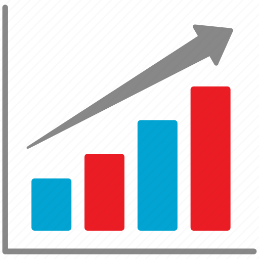 analytics, business, chart, diagram, graph, mobile icon