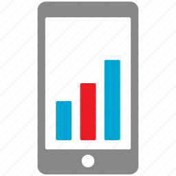 analytics, business, chart, graph, marketing, mobile icon