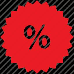 badge, business, percent, percentage, sale, sticker icon