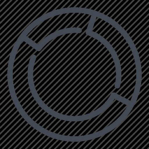 analytics, chart, circle, graph, report, statistics, stats icon
