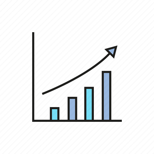 bar chart, business, chart, data, graph, growth, stats icon