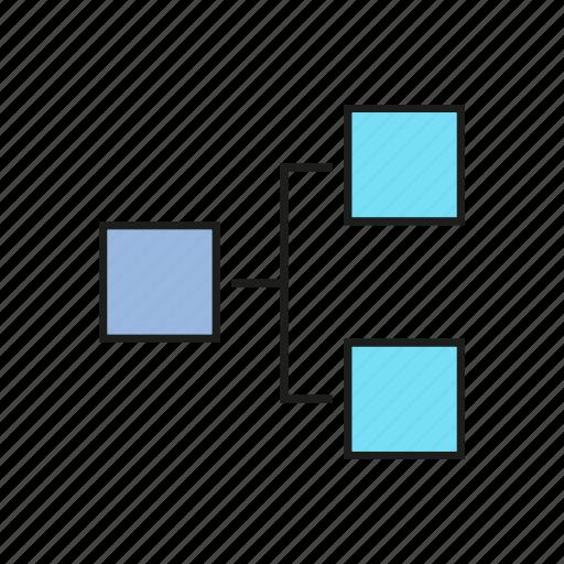 business, chart, data, graph, hierarchy, organization chart icon