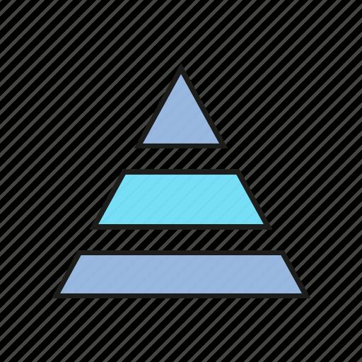 business, chart, data, finance, graph, pyramid, stats icon