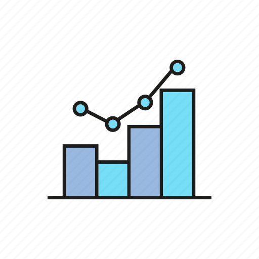 business, chart, data, finance, graph, plot, trend icon