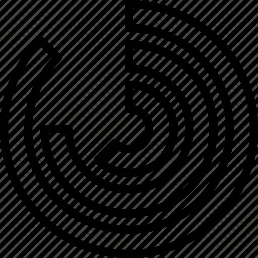 circle, comparison, diagram, statistics icon