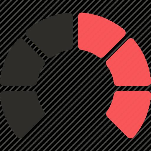 analytics, bar, chart, circle, diagram, donut, semi icon
