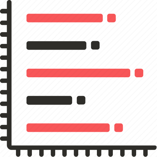 bar, chart, graph, stacked, visualization icon