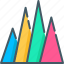 bar, chart, elements, graph, infographic, triangle, visualization icon
