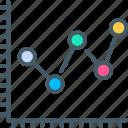 graph, chart, dot, bar, analytics, diagram, plot icon