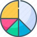 analytics, diagram, graph, pie chart icon