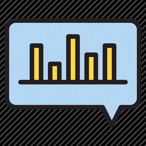 box, chat, data, graph icon