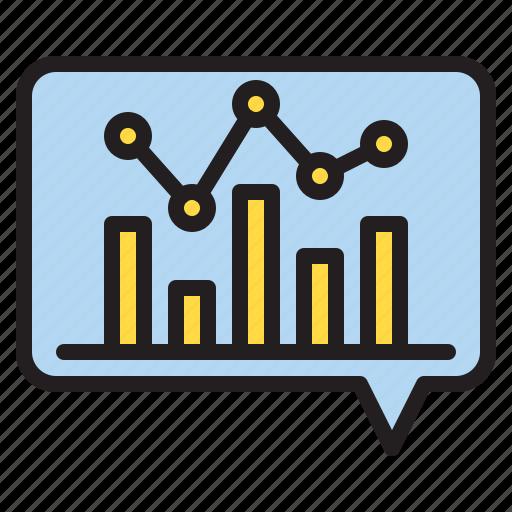 box, chat, data, file, graph icon