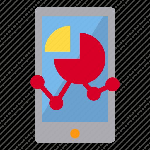 computer, data, graph, mobile icon