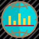 data, graph, network, world icon