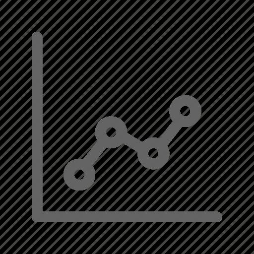 chart, diagram, graph, line icon