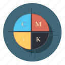 cmyk, color, design, graphic, tool icon