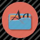 document, file, folder, font, format icon