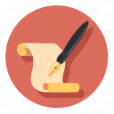 draw, paper, pen, pencil, write icon