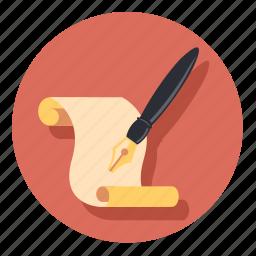draw, paper, pen, pencil, write icon