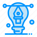 artwork, bulb, designing, illustration icon
