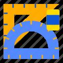 creative, design, graphic, illustration, ruled, tool, work icon