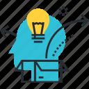 box, brainstorming, business, creativity, idea, innovation, think
