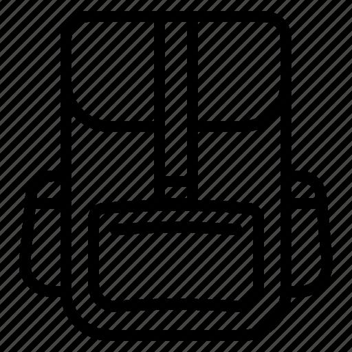 Backpack, bag, rusksack, schoolbag icon - Download on Iconfinder