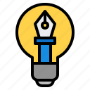 bulb, design icon