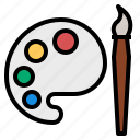 palette, tool icon